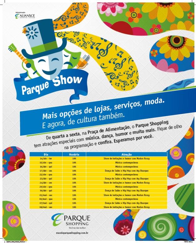 Parque Show programação