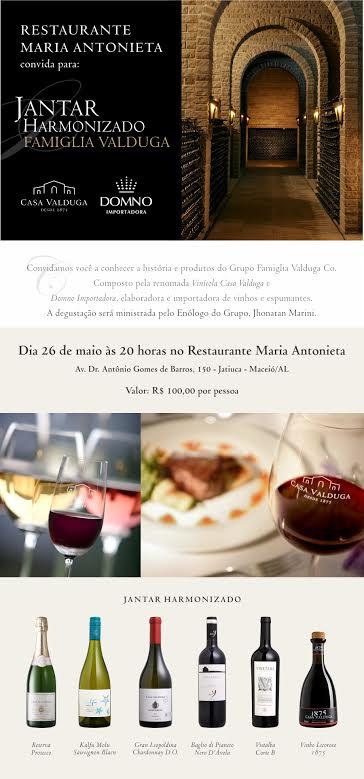 Maria Antonieta - Degustação Harmonizada